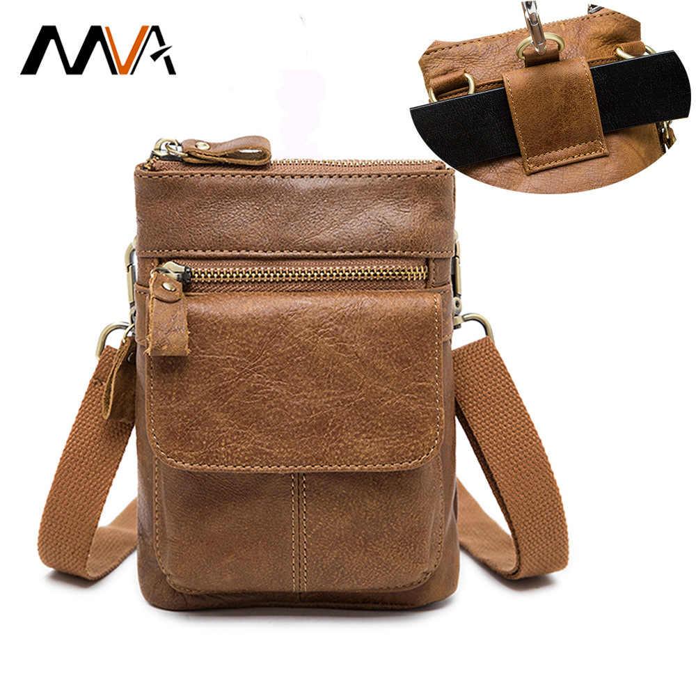 01e668a713ac ... MVA из натуральной кожи сумка мужчины Для мужчин сумки сумочка  маленькая плеча Crossbody сумки Сумки Повседневная ...
