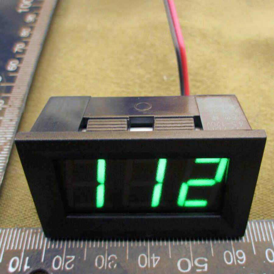 1 шт./лот Цифровой вольтметр 5 В до 120 В 0,56 дюймов светодиодный цифровой Панель метр Напряжение тестер красный/зеленый /синий монитор