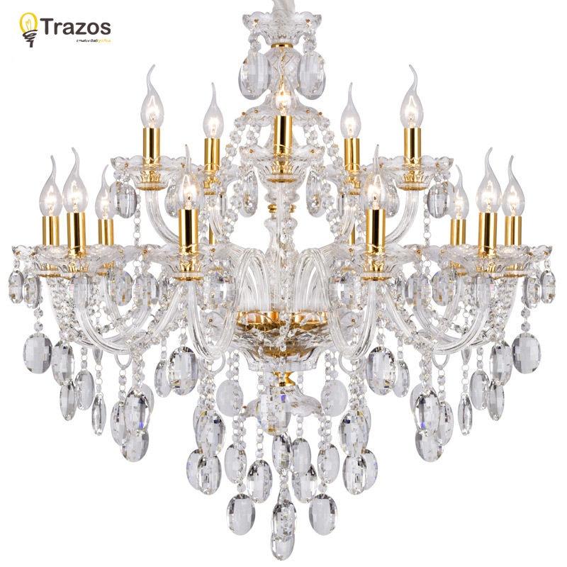 De luxe chandelier en cristal Pour Salon lustre sala de jantar cristal Moderne Lustres luminaire décoration de mariage