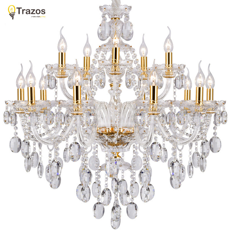Luxury Crystal chandelier For Living Room lustre sala de jantar cristal Modern Chandeliers Light Fixture Wedding Decoration