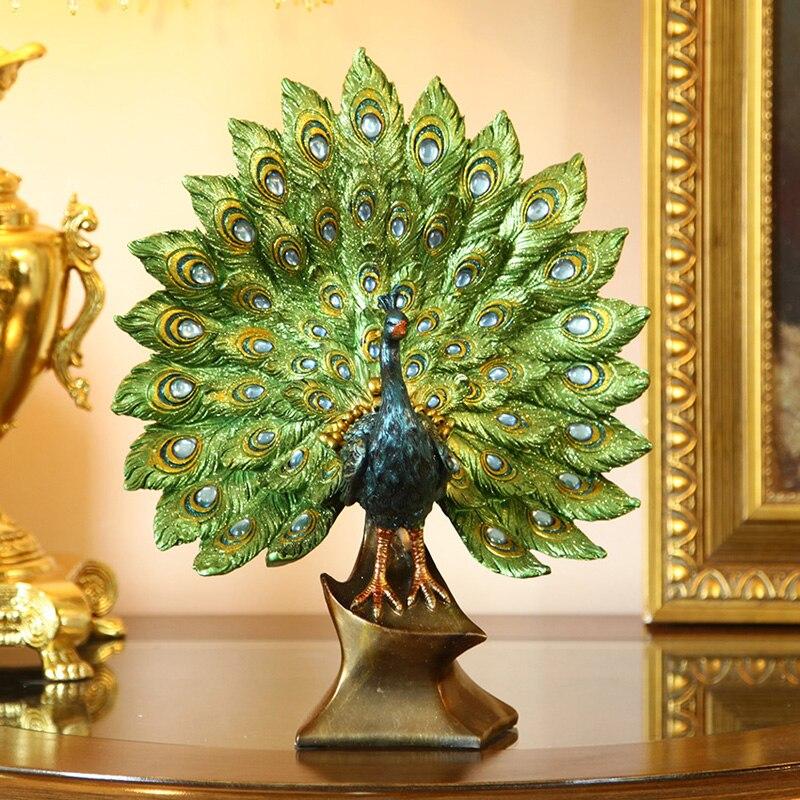 Aqumotic Vintage paon ornement oiseau chambre paon décor coloré décoration Sculpture abstraite fête anniversaire décorations