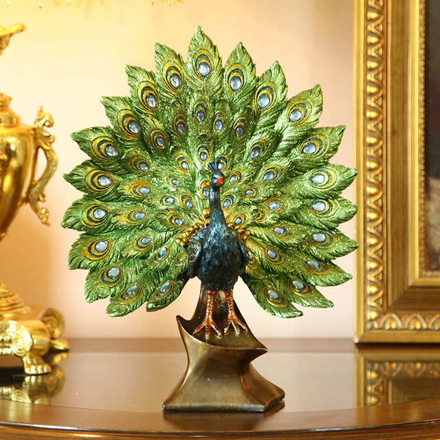 European Classical Style Decorations,peacock Decorations,living Room  Ornaments,colorful Decoration Sculpture Abstract