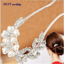 VOT7 vestitiy 2017 fashion women Lovely Vintage Jewelry Crystal Hair Clips Hairpins- For Hair Clip Beauty Tools Oct 10