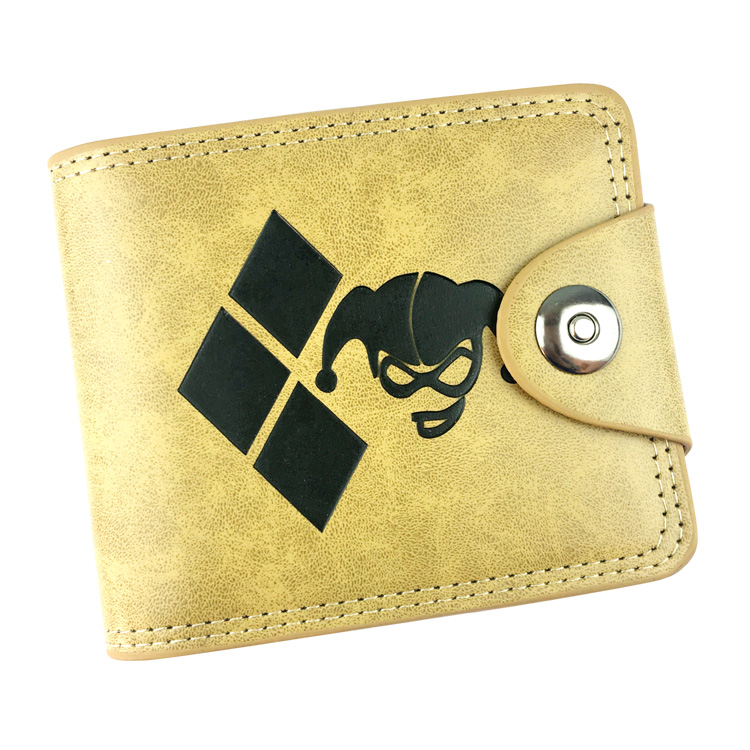 Suicide Squad Boys Girls Anime Pu Leather Short Purse Hasp Wallet Card Holder Coin Pocket Purses