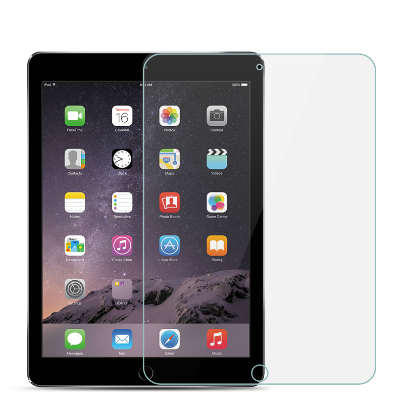 Tempered Glass For Apple iPad 2018 9.7 2017 Glass For iPad Air 2 Mini 1 2 3 4 Pro 10.5 11 inch Screen Protector Protective Film(China)