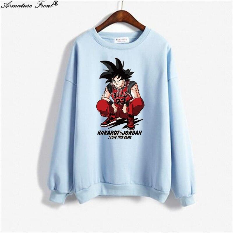 Women's Clothing Reasonable Cartoon Dragon Ball Monkey King Print Bts Hoodie Spring 2019 Autumn Women Clothes Sweatshirt Plus Size Gothic Tops Hoodies Y104 Strengthening Sinews And Bones