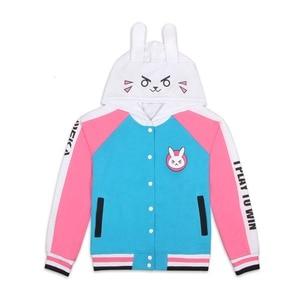 Image 3 - Ropa de Anime sudadera de juego DVa disfraz de Cosplay D.Va abrigo de béisbol para adulto D.Va chaqueta femenina Cosplay sudaderas finas para hombres y mujeres