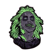 Beetlejuice dello smalto pin retro 80s horror comedy movie spilla freddo fantasma distintivo regalo di Halloween(China)