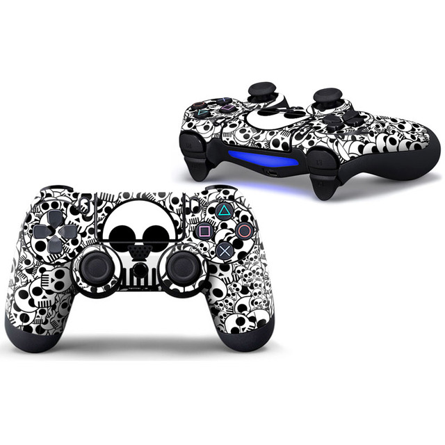 Blue Skull Protective Cover Sticker For PS4 Controller Skin For Playstation 4 Decal Accessories 4