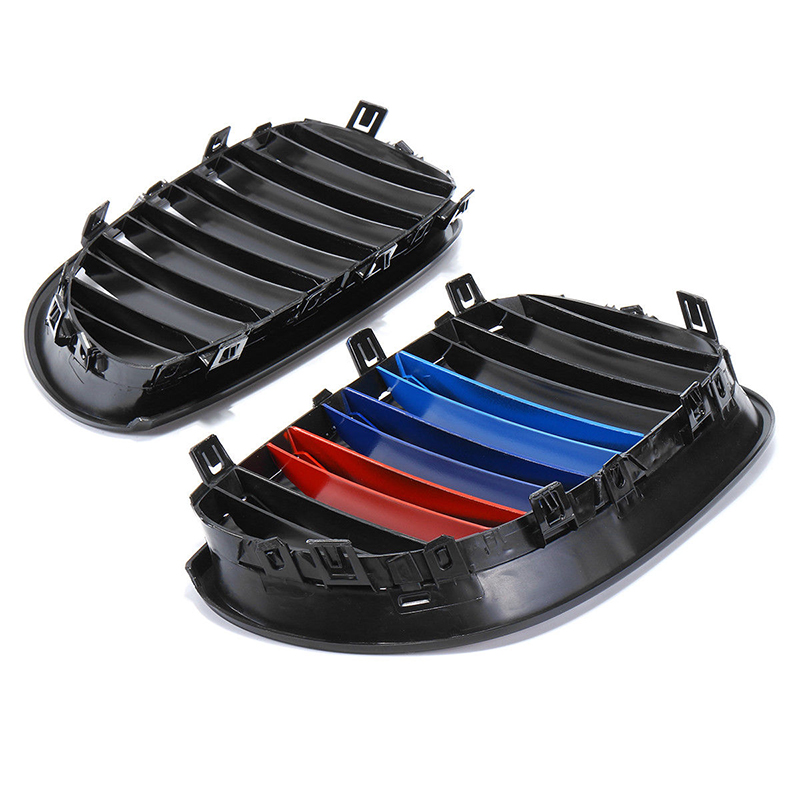 Image 3 - 1 Pair Glossy Black Front Kidney Grille Grill ABS Left/Right For BMW E60 E61 5 Series 2003 2010 Gloss Black Front Grille Cover-in Front & Radiator Grills from Automobiles & Motorcycles