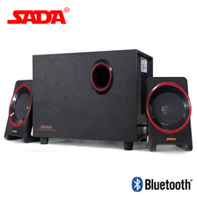 SADA D-225 Subwoofer 3D Encompass Bluetooth Stereo Bass PC USB Speaker Mixture Audio system FM Radio TF Card for Cellphone Pc