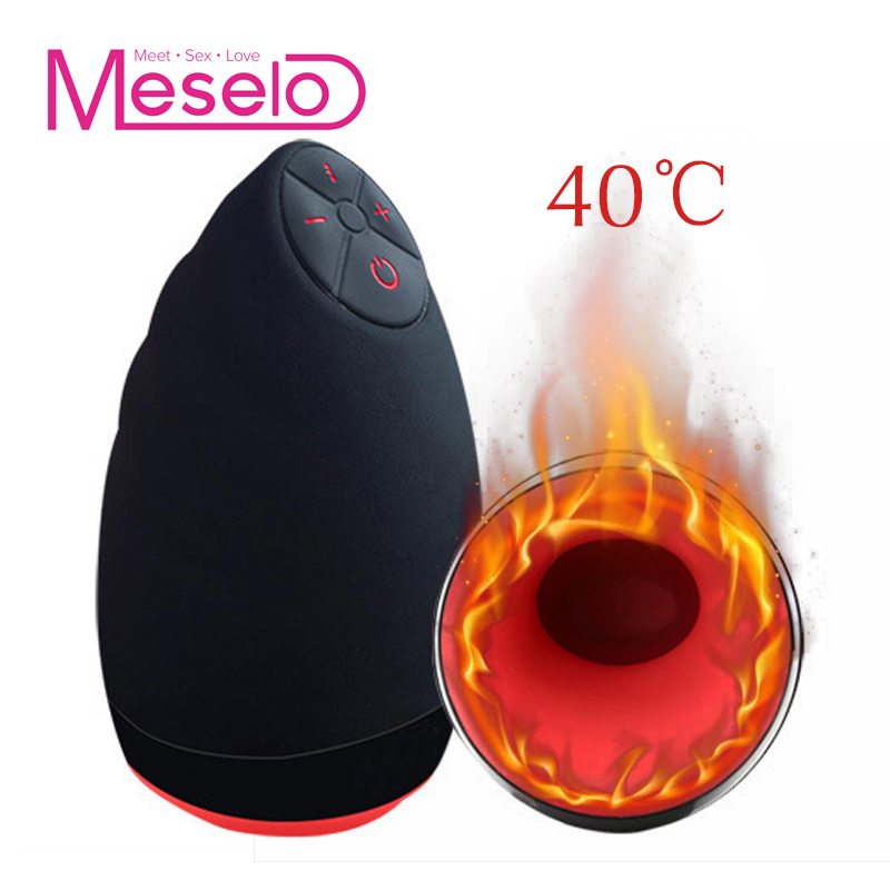 Meselo 6 Modes Lick Suck Automatic Intelligent Heat Sex Machine Oral Masturbation Cup Vibrating Realistic Vagina Sex Toy For Men electric lick suck automatic oral sex machine male masturbator cup 6 speeds vibrating intelligent heat realistic sex toy for men