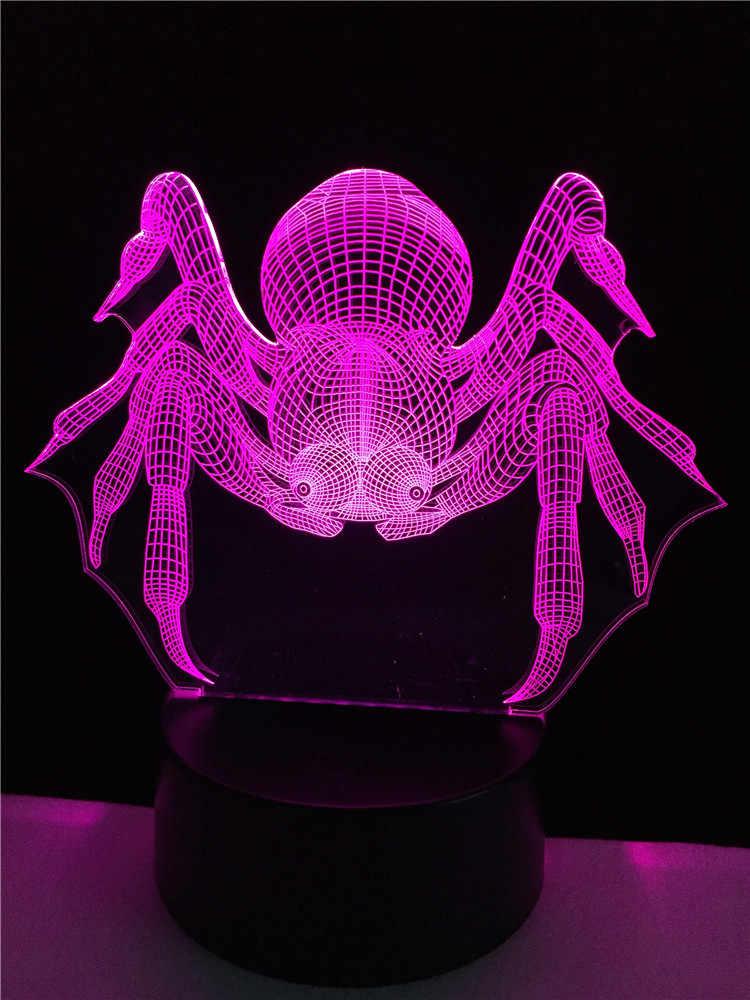 GAOPIN Kreative Spinne 3D Lampe beleuchtung LED USB Stimmung Nacht Licht Multicolor Touch oder Remote leuchten Ändern Tisch Schreibtisch Neben