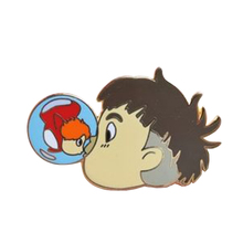 Эмалированная булавка «Поцелуй рыбка»