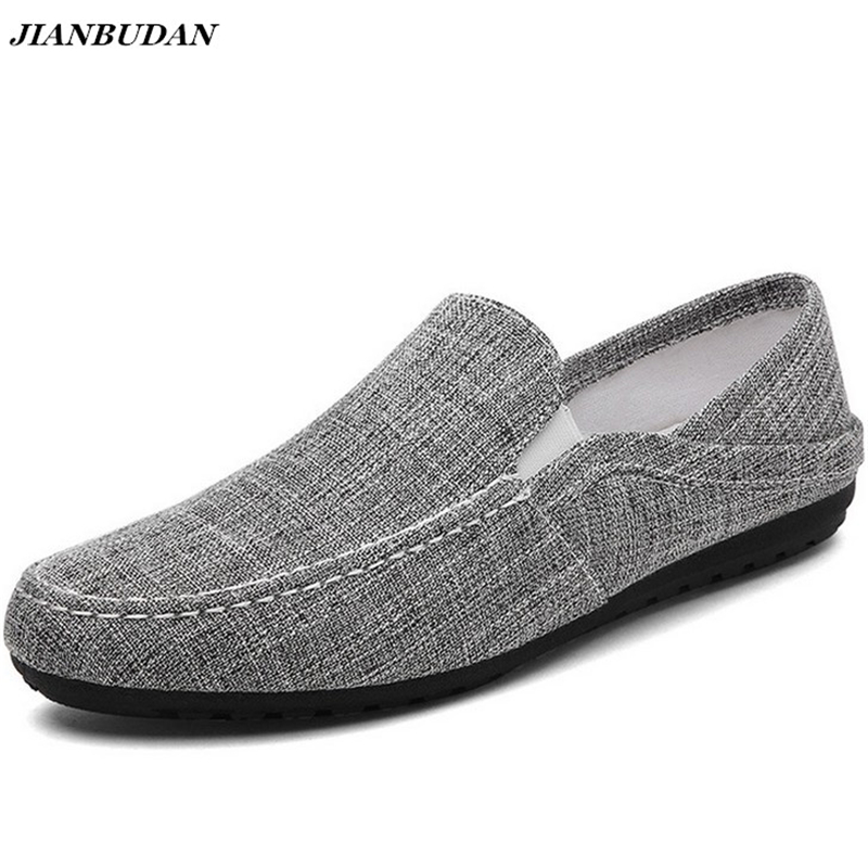 Linen breathable male flat shoes, 2017 summer new casual driving shoes, lightweight wear-resistant slippery lazy shoes fgn men s new 2017 casual summer breathable male wear resistant mesh shoes comfort trend of male flats shoes