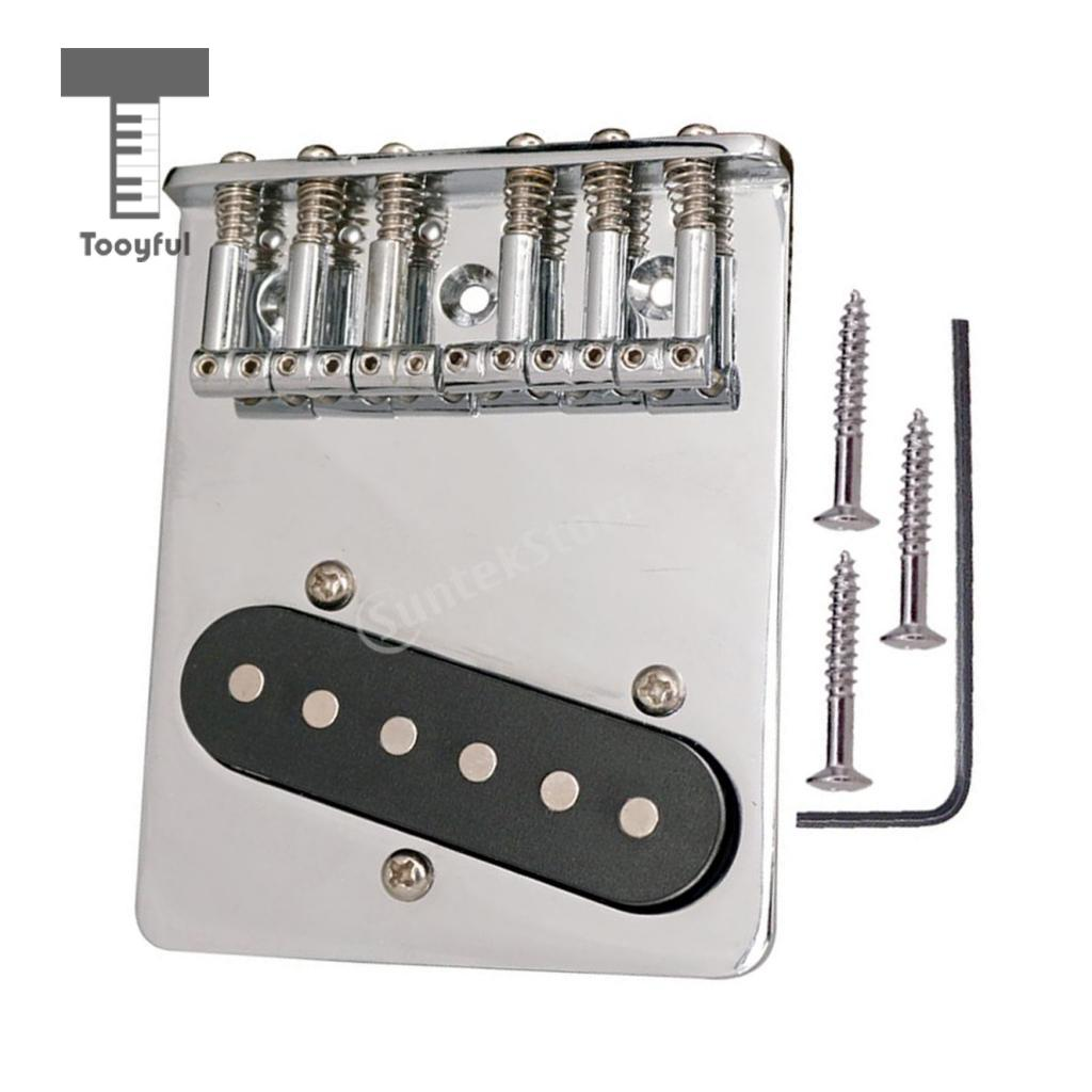 Tooyful Guitar Replacement L Shape Flat Saddle Bridge Tailpiece Pickup Set for Tele TL Electric Guitar Accessory 66 x 80.5mm professional vintage set of single coil pickup neck middle bridge for electric guitar musical instrument accessory brand new