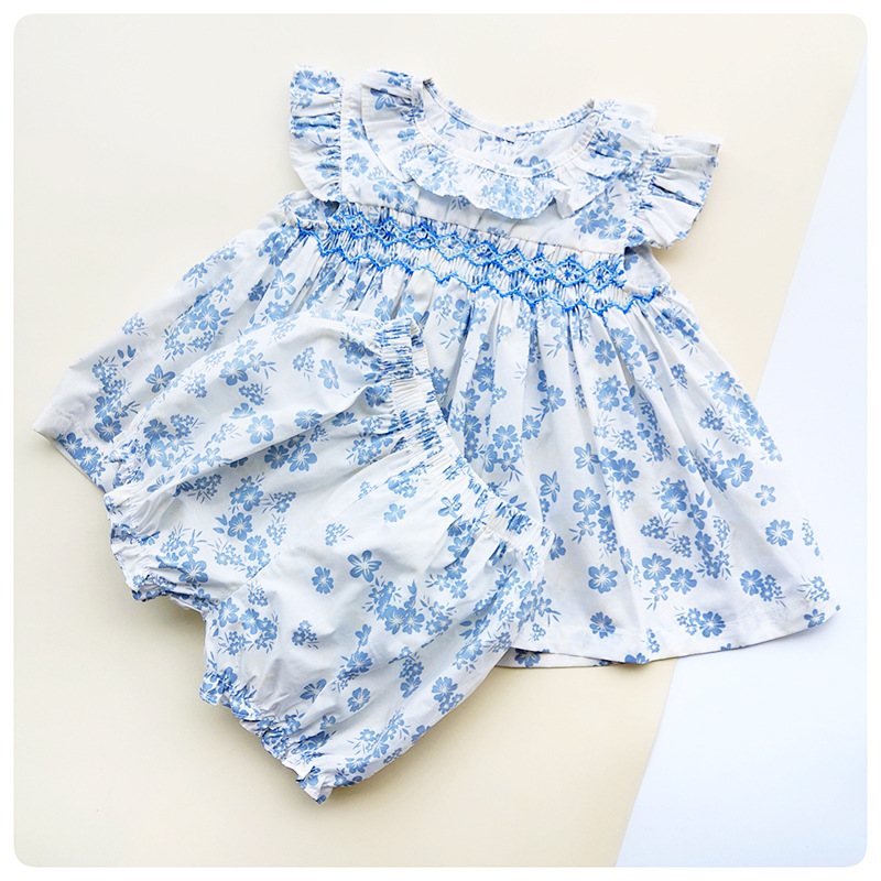 >2019 Summer Spain <font><b>Girls</b></font> Cotton <font><b>soft</b></font> Clothes Baby <font><b>Girls</b></font> Floral Sweet 1-3Years Old <font><b>Girls</b></font> Boutique <font><b>Outfits</b></font> Toddler <font><b>Girl</b></font> Clothes