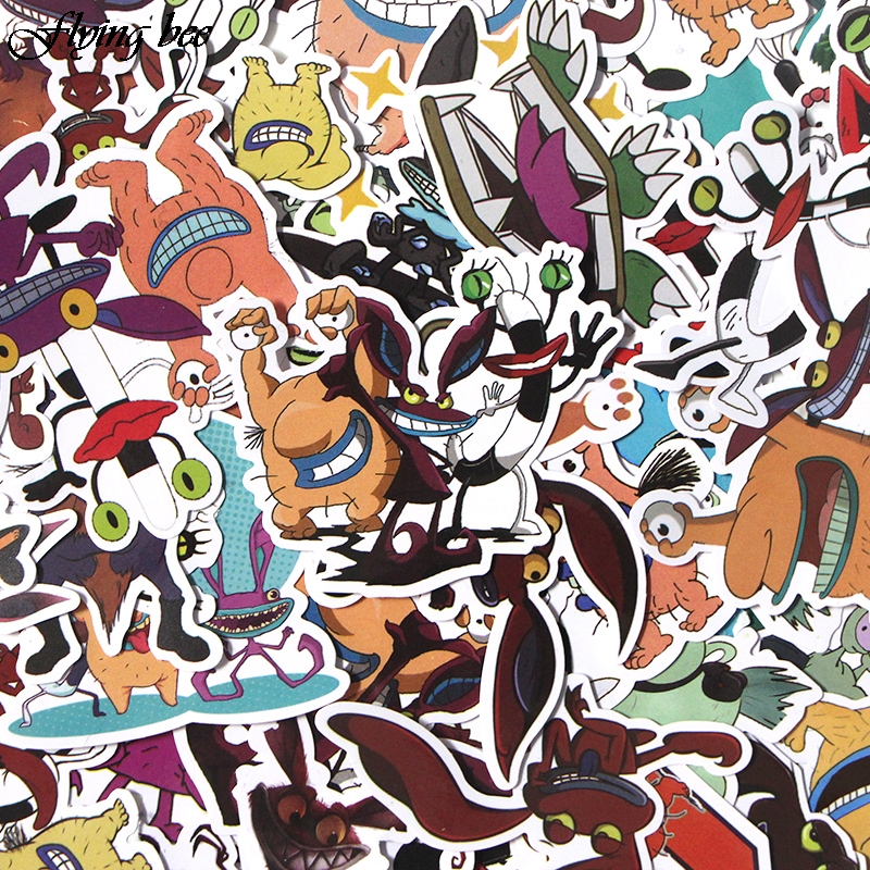 Image 2 - Flyingbee 42 Pcs Aaahh Real Monsters funny Sticker Decals Scrapbooking Stickers for DIY Luggage Laptop phone Car Stickers X0017-in Stickers from Consumer Electronics