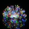Alta Calidad 10 M/33FT 100LED de Alambre de Plata de Hadas de la Secuencia de Luz DC 12 V Para El Banquete de Boda Navidad LLEVÓ luces de Decoración de La Habitación caliente