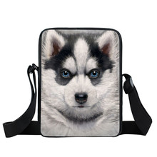 Animals Dog Husky Messenger Bag Wolf Rock Women Men Mini Cross Bag Boys Girls School Bags Kids Daily Bags Children Gift Bookbag