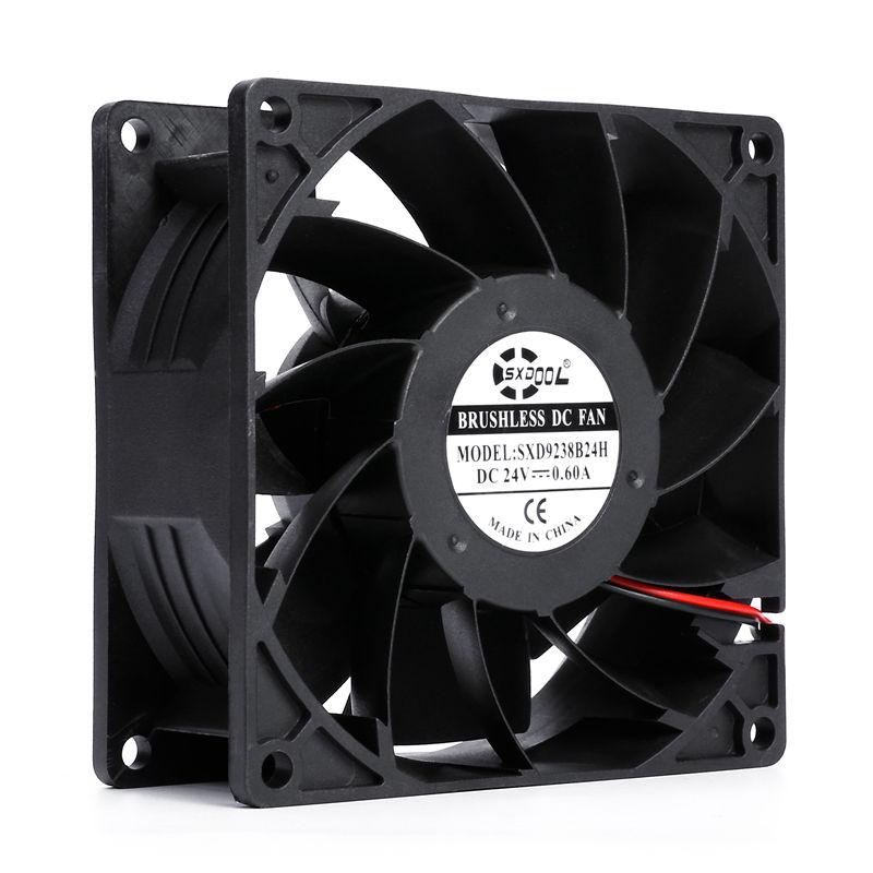 New SXDOOL SXD9238B24H 92mm 92*92*38mm DC 24V 0.60A 4200rpm 108cfm Server Inveter Axial Cooling Fan Powerful