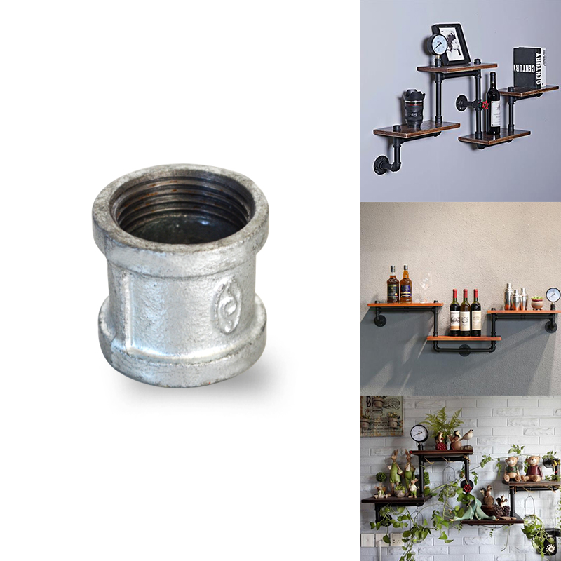 Plumbing 5pcs/lot G3/4 Dn20 Iron Malleable Coupling Socket Bs Thread Diy Industrial Decoration Style Pipe Fittings Holder Bracket To Have A Long Historical Standing Pipe Fittings