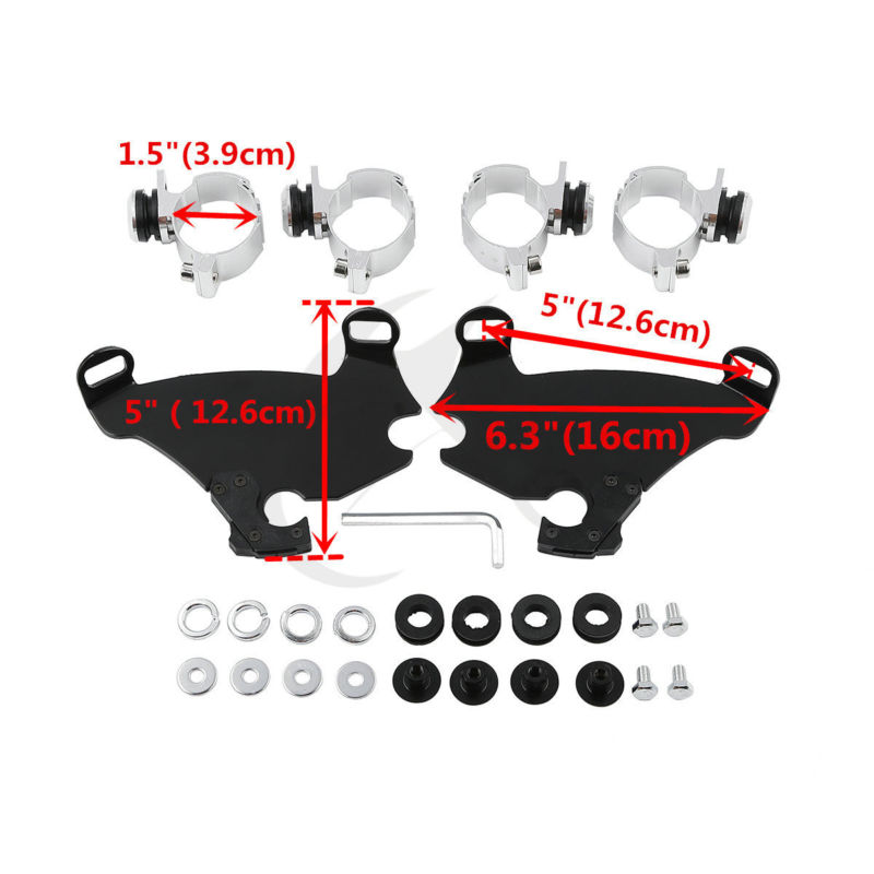 Gauntlet Fairing 39MM Fork Bracket Trigger Lock Mount Kit For Harley Dyna FXDB FXDF Sportster XL 1200 XL883 слесарные тиски зубр эксперт 32712 100