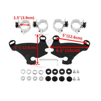 Gauntlet Fairing 39MM Fork Bracket Trigger Lock Mount Kit For Harley Sportster XL 1200 XL883