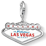 AENINE Classic 925 Sterling Silver Las Vegas Sign Diy Charms Making Fit Bracelets & Neckalces Jewelry For Women Berloque TSCH446