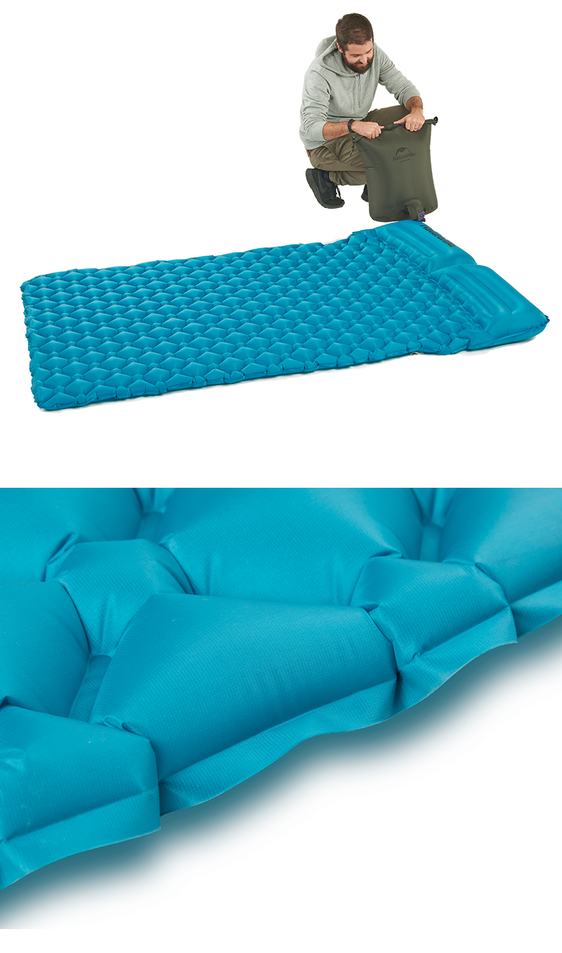 naturehike new double inflatable air mattress with two pillows