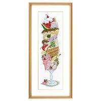 Fishxx вышивки крестом комплект T699 супер мороженое Десерт деликатесов Вышивка Ресторан Гуйхуа