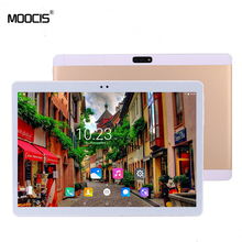 MOOCIS New 10.1 inch tablet pc 1920*1200  4GLTE Phone Call Android 6.0 Octa Core IPS pc Tablet8 9 WiFi Bluetooth  4GB RAM 32GB