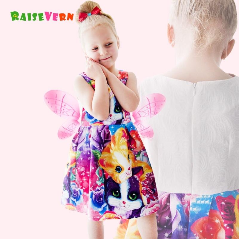 fc3bfa49d784a Été Enfants Costume de Bande Dessinée 3D Imprimer Chat Ours Fleur ...