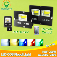 LED Flood Light 200W 150W 100W 50W 30W 10W led light outdoor Wall Washer lamp IP65 Waterproof Garden AC 220V 110V RGB Lighting