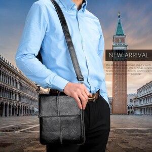 Image 3 - VORMOR Bolso cruzado de cuero de moda para hombre, bandolera de hombro, de diseñador informal, pequeño