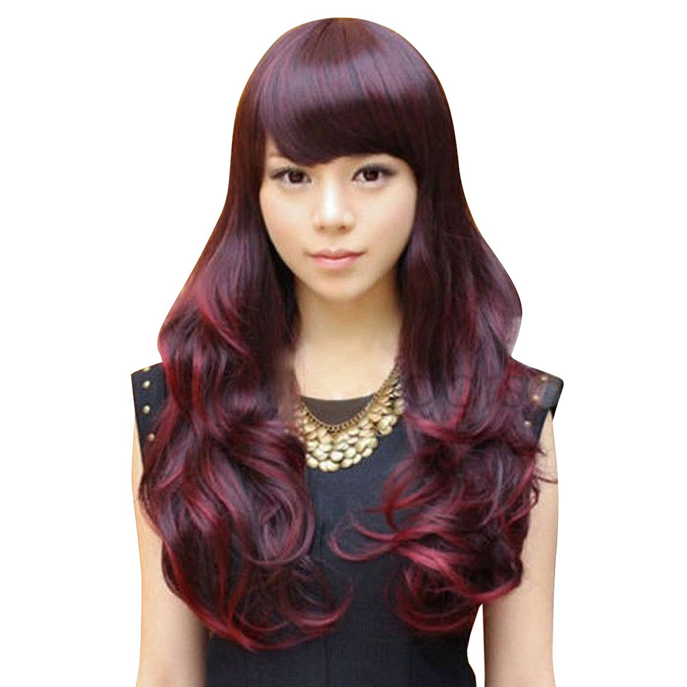 New Stylish Lolita Harajuku Curly Wavy Long Hair Full Wig