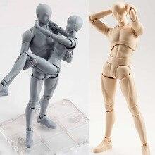 15 cm Mężczyzna Kobieta artysta Sztuki malowania ciała wspólne Ruchome Figurka Zabawki Anime model lalki bjd Art Szkic Manekin remis