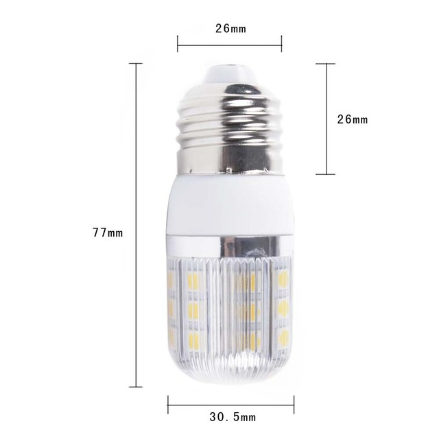 E27 220V 5W warm white 360 Degree 5050 SMD 30 Led Light Bulb Lamp corn bulb wholesale 50pcs EMS free