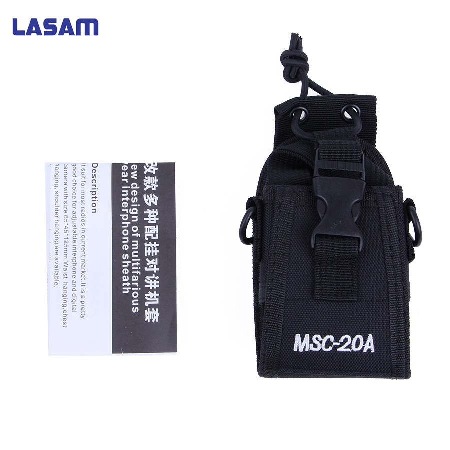 LASAM MSC-20D Talkie Walkie Sac Cas Titulaire Nylon Carry Case Pour Kenwood BaoFeng UV-5R UV-5RA UV-5RB UV-5RC UV-B5 UV-B6 BF-888S