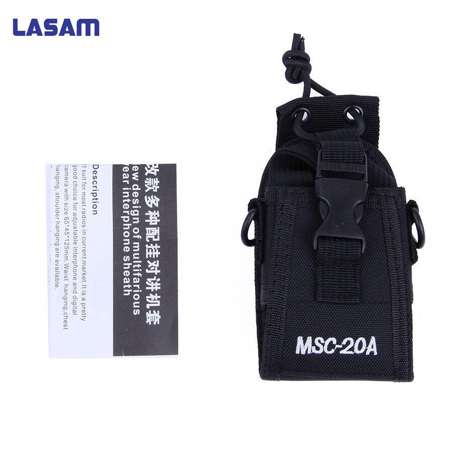 LASAM MSC-20D Talkie Walkie Sac Cas Titulaire Nylon Carry Case Pour Kenwood BaoFeng UV-5R UV-5RA UV-5RB UV-5RC UV-B5 UV-B6 BF-888S