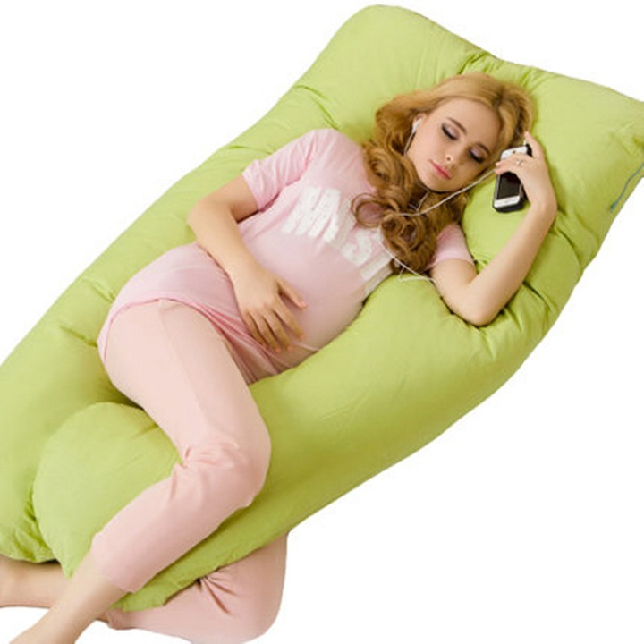 Pregnancy Pillow Bedding Full Body Pillow for Pregnant Women Comfortable U Shape Cushion Long Side Sleeping