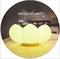 Thịt Lưu Trữ Hoa LED Night Light Các Loài Xương Rồng USB Bảng Đèn Sạc Silicone Floral Điều Khiển Cảm Ứng Đèn Ánh Sáng