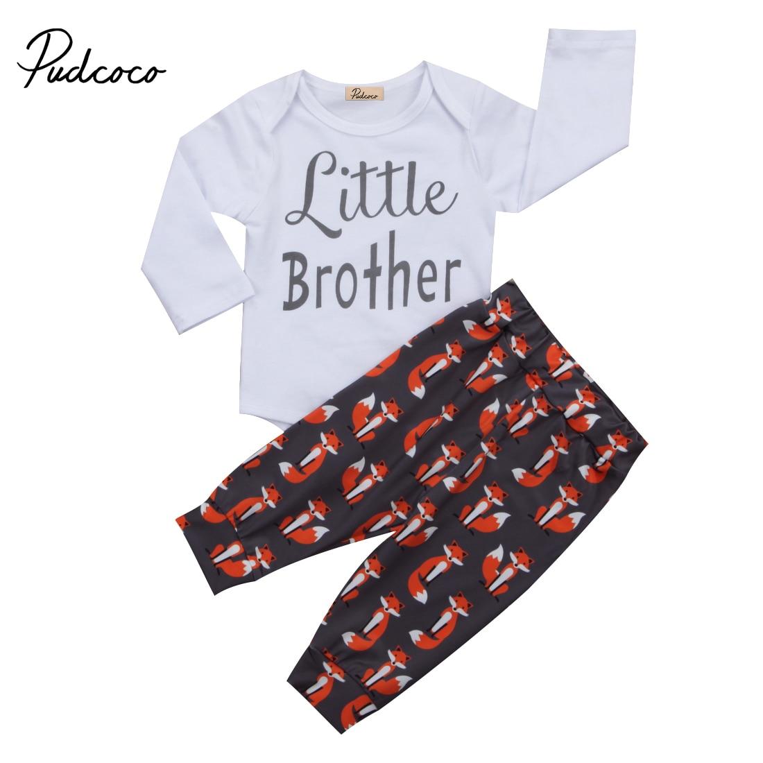 0-24 м Симпатичные для маленьких мальчиков Комплект одежды комбинезон с длинными рукавами Топы Корректирующие + лиса Брюки для девочек шляпа ...