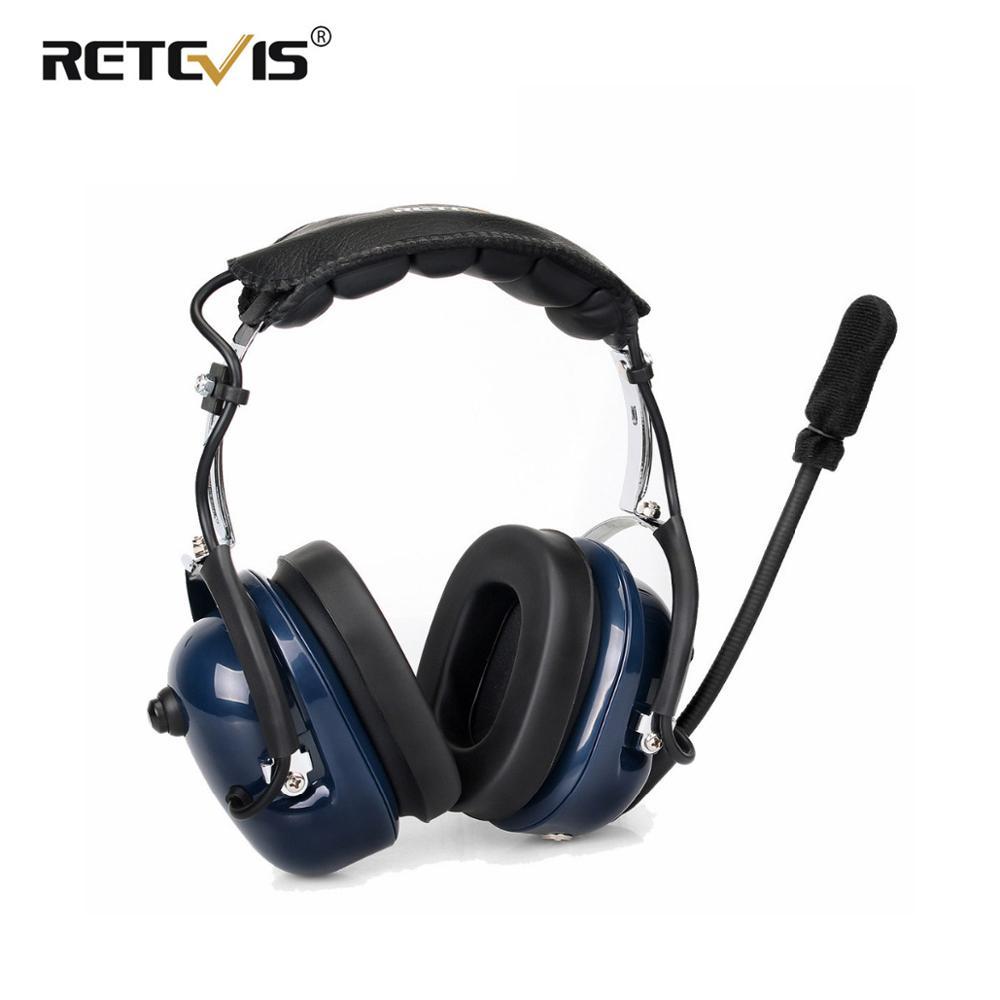 Noise Cancelling Aviation Microphone Headset Walkie Talkie Earpiece VOX Volume Adjustment For Kenwood Baofeng UV 5R Retevis H777