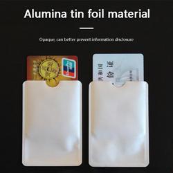 FGHGF 10 шт Серебряный против сканирования RFID рукав протектор кредитных ID Card Алюминий держатель фольги прочное качество