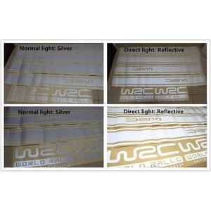 Image 4 - 45CM * 15CM 1 Pair WRC Car sticker BK KK Reflective Sliver Material 1 Pair Gird Pattern Auto Vehicle Body Decoration Stickers