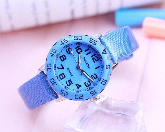 Children Kids Watches Casual Fashion Cute Students Watch Life Waterproof PU Leather Strap Quartz Wrist Watch For Girl Boy