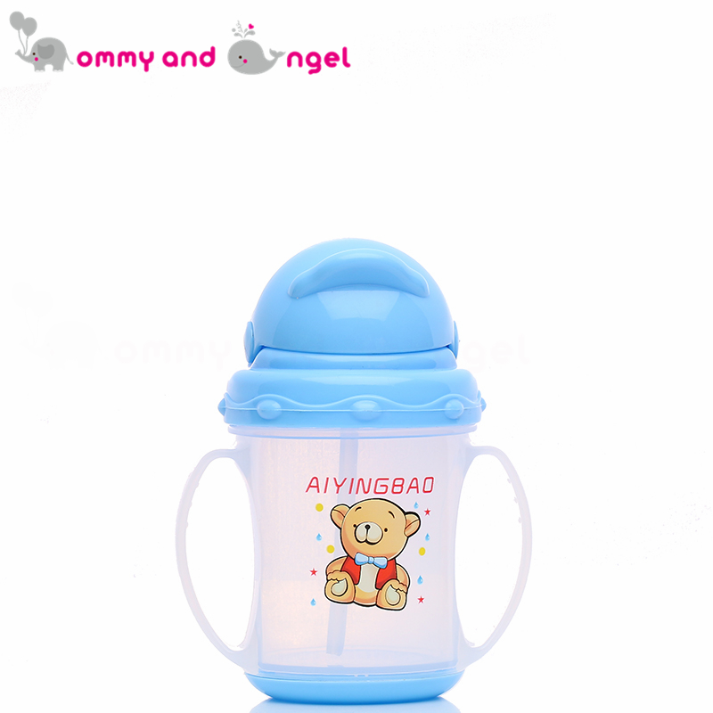 MOMMY AND ANGEL Calssic Boy&Girl Closer to Nature Fiesta Bottle Sippy Cup for Kid Straw Feeding Bottle (2 Colour,180ml,ABE/8083)