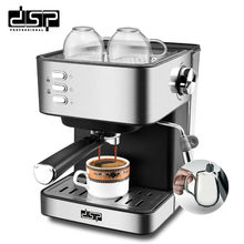 Купить с кэшбэком DSP full-featured home display full temperature control coffee machine semi-automatic stainless coffee machine
