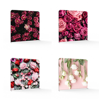 Double Printing Colorful Flower Photo booth Pillow Backdrops with aluminum frame stand for photography Event Party wedding
